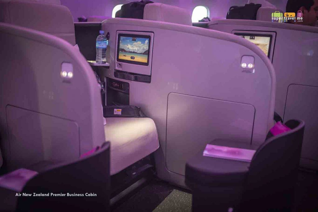Air New Zealand Business Class Cabin