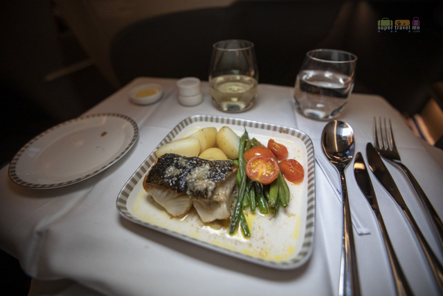 Singapore Airlines Book the Cook -Seared Black Cod Fillet 'à la Niçoise' designed by Suzanne Goin