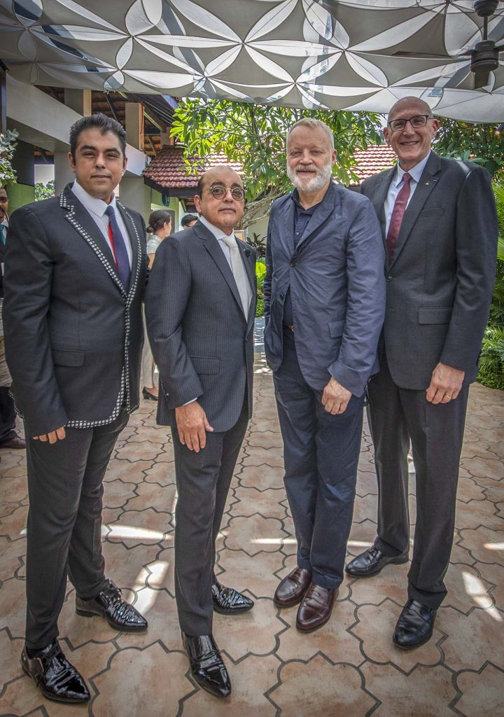 (L to R) Bobby Hiranandani & Asok Kumar Hiranandani from Royal Group, Glenn Pushelberg from Yabu Pushelberg Design and Michael Issenberg from Accor Asia Pacific