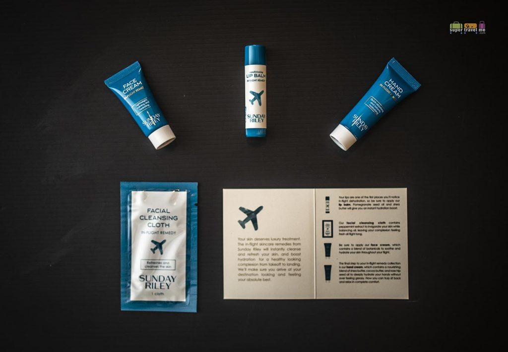 SUNDAY RILEY AMENITIES  in UNITED AIRLINES Polaris Business Class Amenity Kits