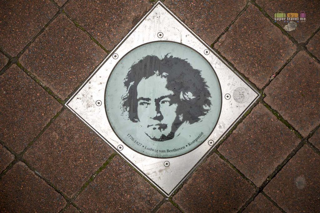 Bonn's walk of fame. Featuring Ludwig Van Beethoven.