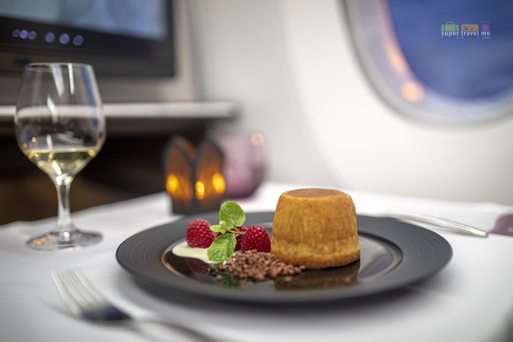 Dining on board Qatar Airways Q SUITES