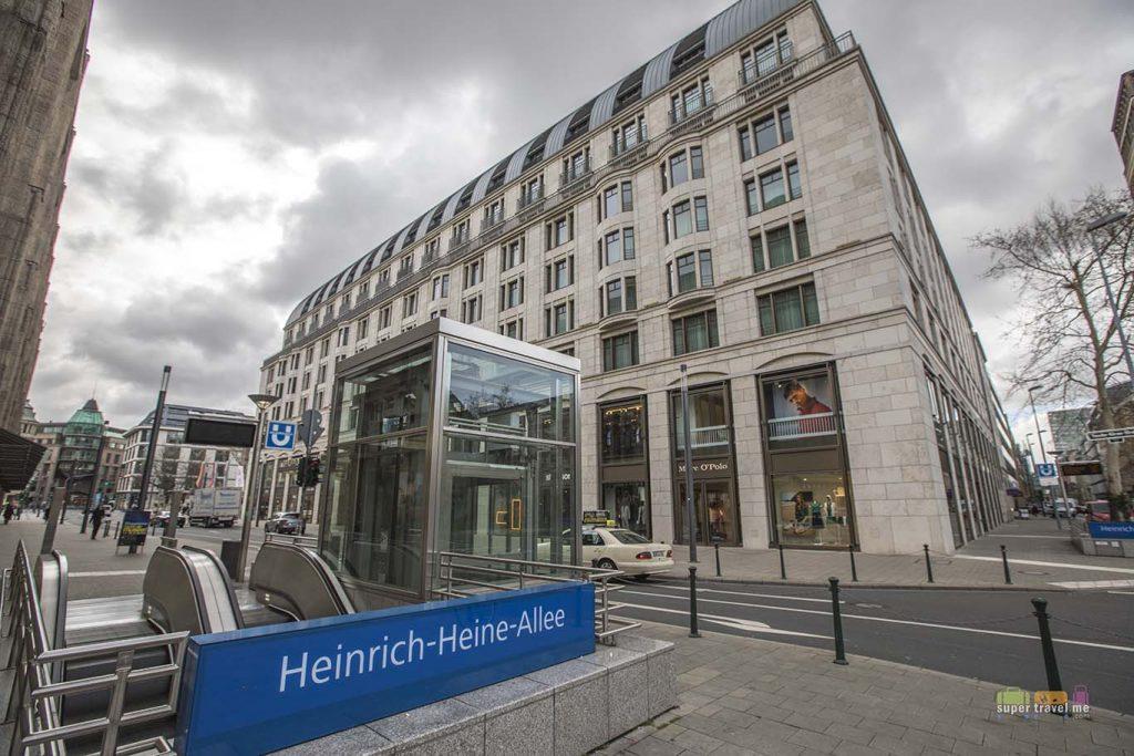 Heinrich-Heine-Allee U Bahn subway station just outside the Capella Breidenbacher Hof Düsseldorf