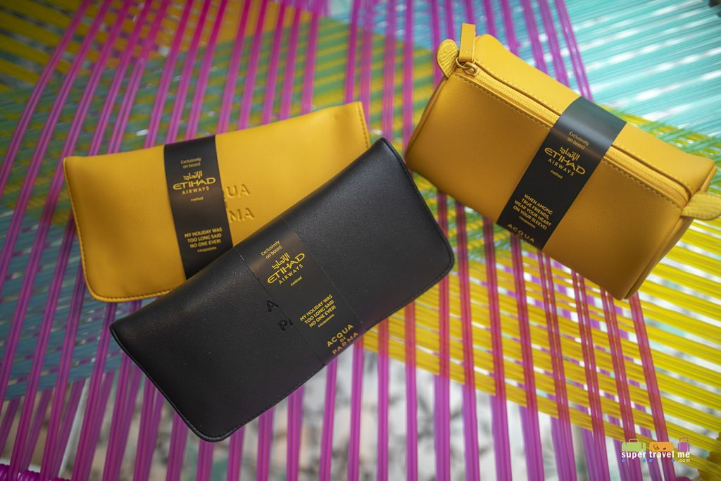 Etihad Airways new Acqua di Parma amenity kits for Business Class and First Class