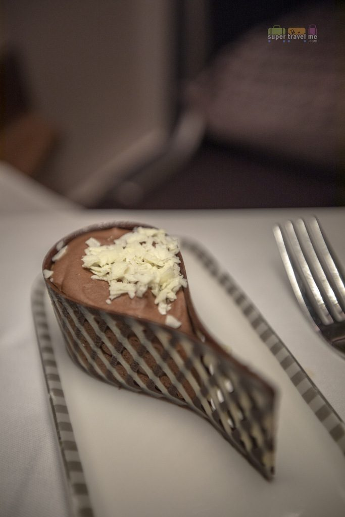 Singapore Airlines Dessert - Chocolate Mousse Tear Drop