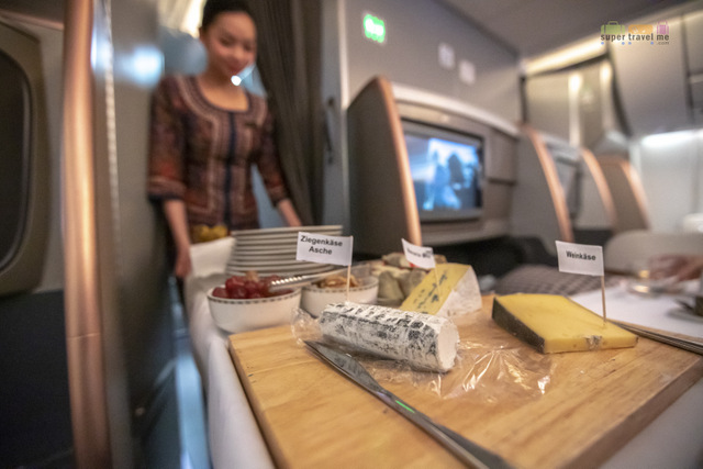 Selection of Cheeses available on board Singapore Airlines