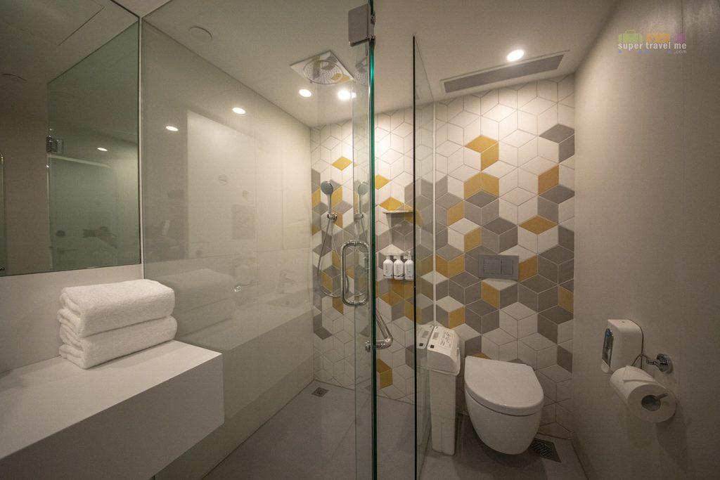 Shower Suites at YOTELAIR at Jewel Changi Airport, Singapore