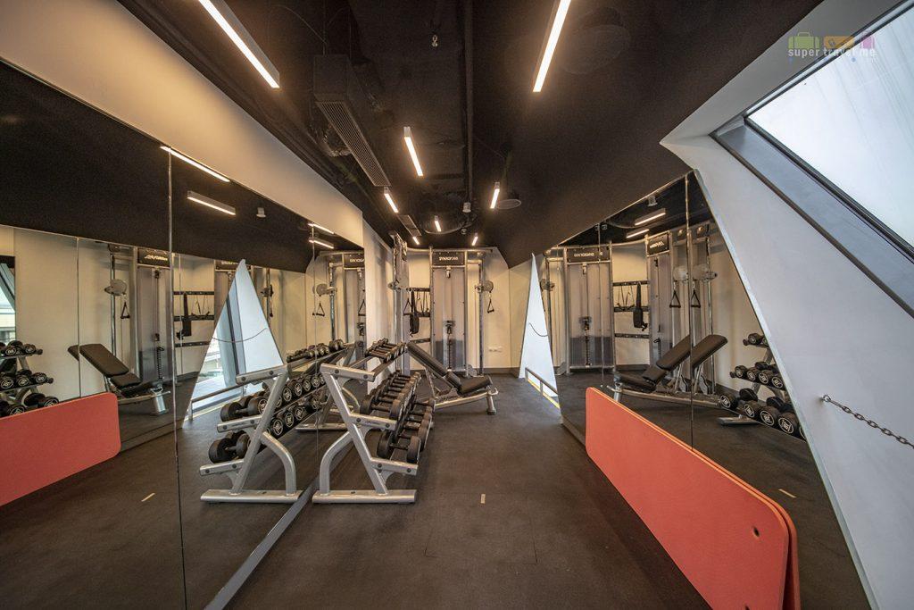 Gym at YOTELAIR in Jewel Changi Airport, Singapore