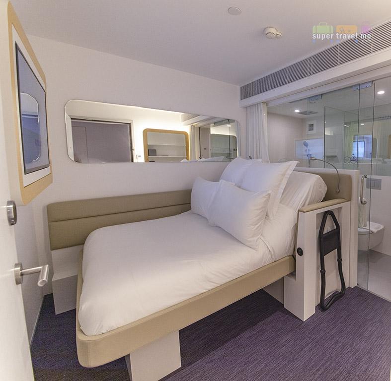 Premium Queen cabin at YOTELAIR at Jewel Changi Airport Singapore