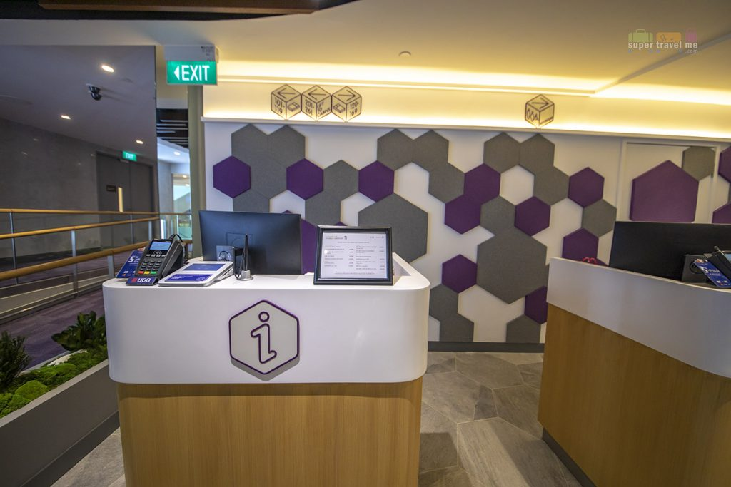 Manned counters at Mission Control  at YOTELAIR Changi