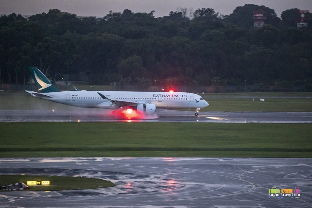 Cathay Pacific A350 at Changi Airport