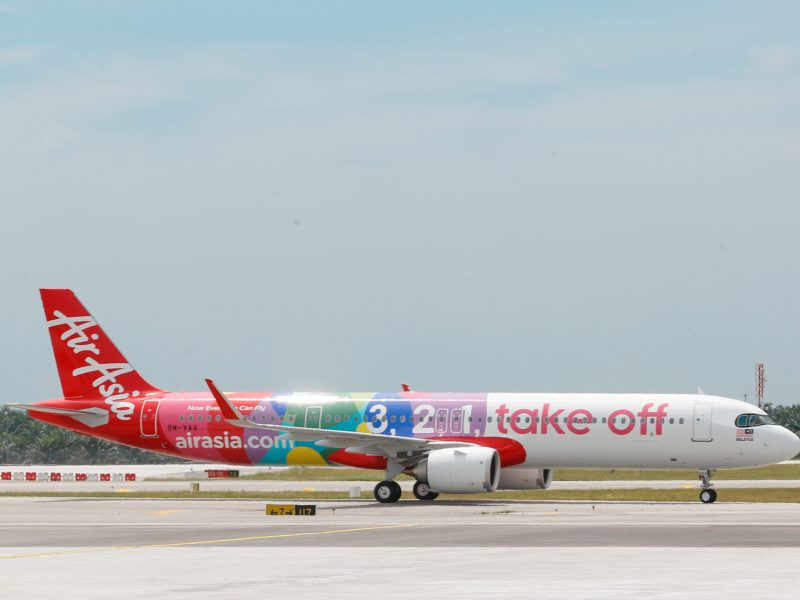 AirAsia A321neo aircraft in Singapore Changi Airport 20 December 2019