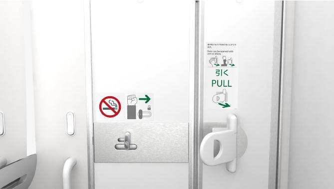 ANA Jamco Lavatory Door