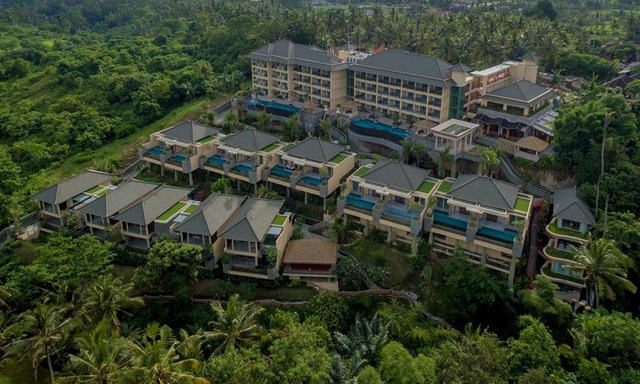 Aerial View of SereS Springs Resort & Spa, Singakerta Bali