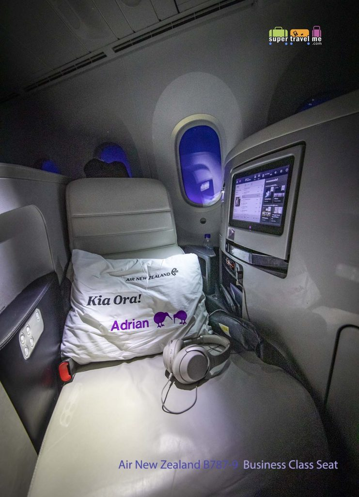 Air New Zealand B787-9 Business Class Seat 3052
