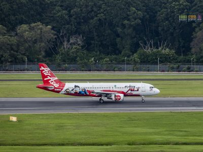 AirAsia Aircraft at Changi Airport