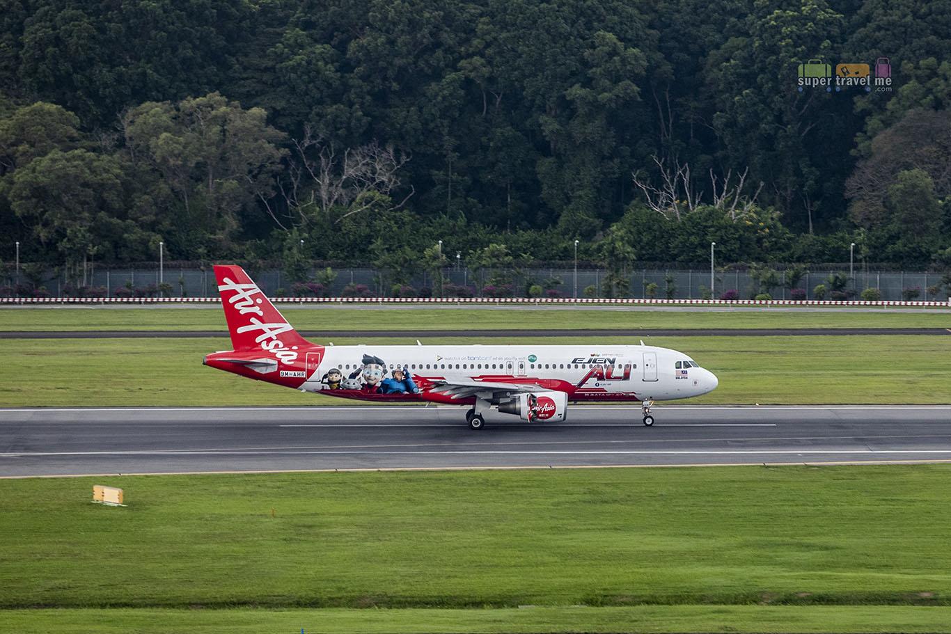 AirAsia Aircraft at Changi Airport