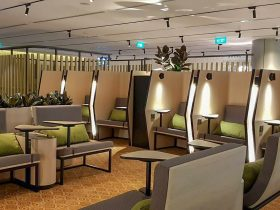 Blossom Lounge Changi Airport T4 interior