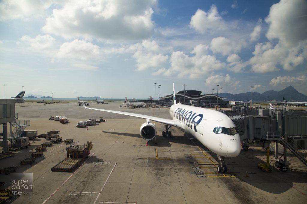 Finnair A350 at Hong Kong International Airport