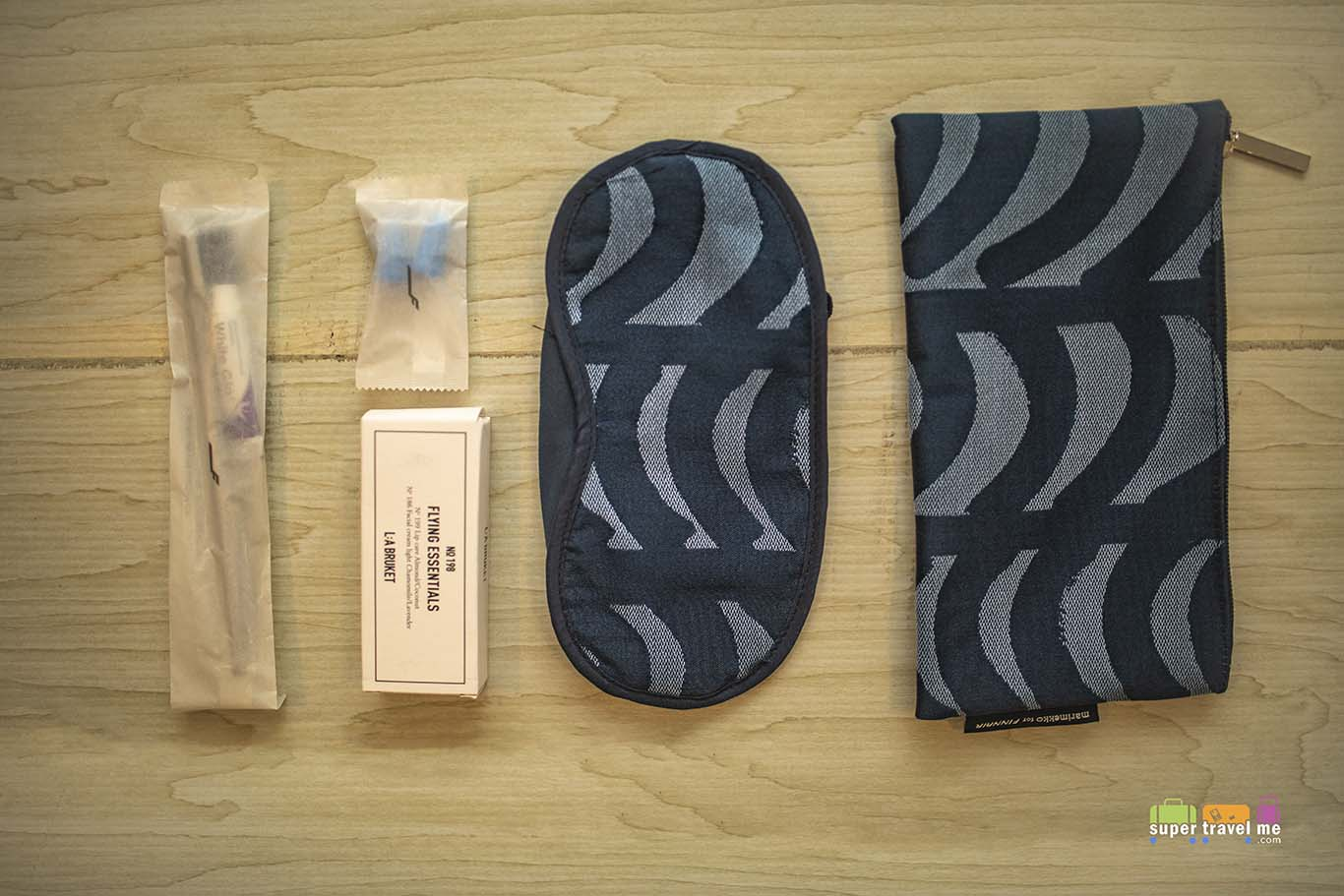 The new Finnair Business Class Amenity Kits for 2019 and its contents