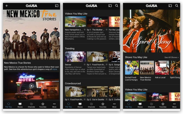 GoUSA TV mobile app