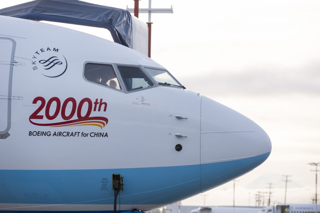 XiamenAir 737 MAX 8 C1 Flight: Milestone 2000th Boeing Aircraft for China - November 29, 2018 (Source: Boeing)