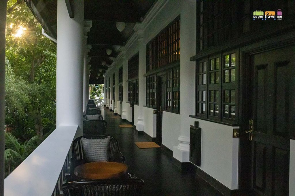 The verandah at Raffles Hotel Singapore