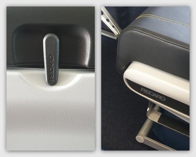 Recaro Seats in Scoot's A320neo