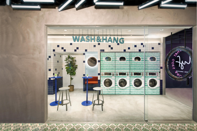 Wash and Hang (lyf Funan Singapore photo)