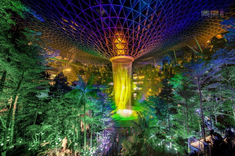 Shiseido Forest and HSBC Rain Vortex - Jewel Changi Airport