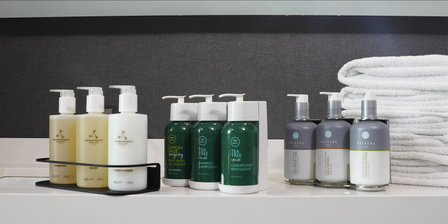 Larger Bottles in Guest Bathrooms (Photo from Marriott International)